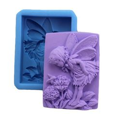 Lovely Fairy Floral 0569 Craft Art Silicone Soap Mold Craft Molds DIY