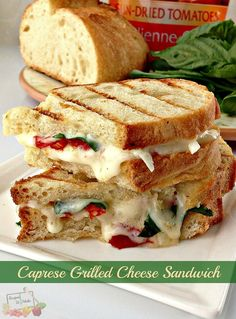 Caprese Grilled Cheese Sandwich - http://recipestomake.com/caprese-grilled-cheese-sandwich/