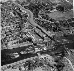 Manchester liner passing Barton bridge and aqueduct