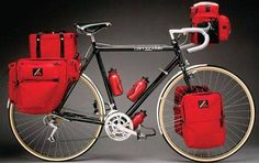 Early cannondale touring bike. love all the bags!!