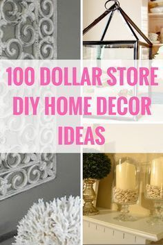 Decorate for less with these dollar store DIY projects. http://www.prudentpennypincher.com/dollar-store-diy-home-decor/