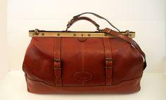 1980s bag / Big Vintage 80's Fanny's Boho Gladstone Doctors Bag and Shoulder Strap. $225.00, via Etsy.