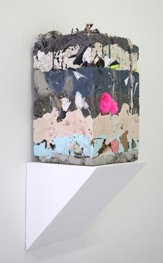 """Jack Henry   Untitled (Core Sample #6). Resin, cement, found objects. 17"""" x 10"""" x 10"""". 2011"""