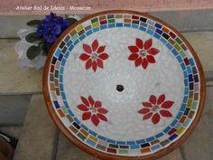 Bowl em cerâmica - Peça Selada - Mosaicos de Pastilhas de Vidro