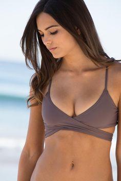 L*Space Swim - Chloe Wrap Top / Pebble - $72 this bathing suit this summer