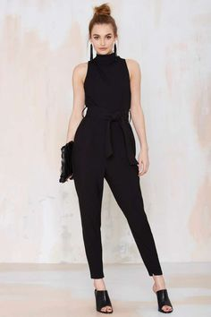 Pleated Jumpsuit in Black