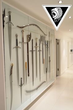 I really need a wall like this in my house....seriously...already started on my weapons collection :D