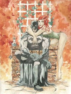 Batman and Poison Ivy by Dustin Nguyen