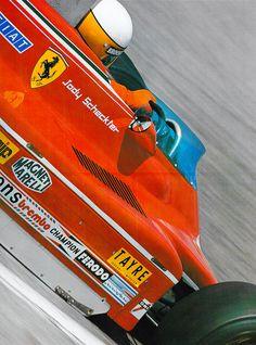Jody Scheckter - World Champion 1979 Indy Car Racing, Ferrari Racing, Ferrari F1, Racing Team, Jody Scheckter, Gilles Villeneuve, Ferrari California, Formula 1 Car, F1 Drivers