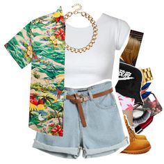 A fashion look from July 2014 featuring HUF tops, HUF socks and Timberland boots. Browse and shop related looks.