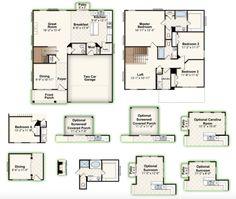 WEST ASHLEY || Square Feet: 2,003 || Bedrooms: 3 or 4 || Full Baths: 2 || Garage: 2-Car