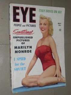 EYE MAGAZINE / MAY 1953 / DIGEST SIZE / GENTLEMEN PREFER MARILYN MONROE 6 PAGES