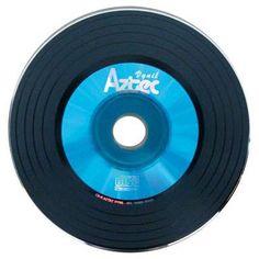 CD-r virgem vinil azul