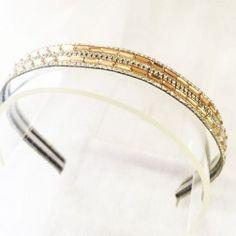 Tiara Arco Luxo - Cristal Duplo Dourado