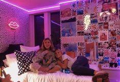 Edge LED Purple Lights - home - Tapestry Lighting – Lighting Decor Cute Bedroom Ideas, Cute Room Decor, Teen Room Decor, Room Ideas Bedroom, Bedroom Inspo, Teen Rooms, Edgy Bedroom, Neon Bedroom, Neon Lights Bedroom