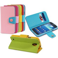 Card Wallet Stand Flip PU Leather Case Cover for Samsung Galaxy S4 Active i537