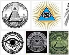 眼睛在三角形里是古埃及一个有寓意的图案,描述多用Eye of Providence, eye of God, All seeing eye, pyramid eye, triangle eye 资料来源:http://en.wikipedia.org/wiki/Eye_of_Horus