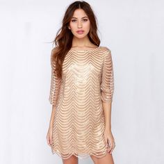 HONEY CLUB co. | HONEYCLUBco.com | The Golden Gatsby Club Dress | ON SALE for ONLY $41