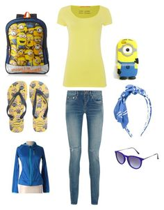 """7th Polyvore"" by gmfarrell on Polyvore featuring HUGO, Yves Saint Laurent, Havaianas, MiMiSol, Topshop and adidas"