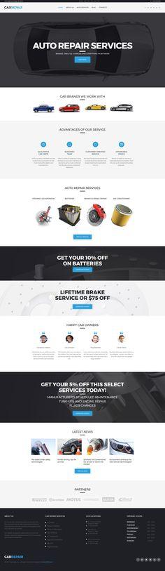 Moto CMS 3 Theme , Car Repair