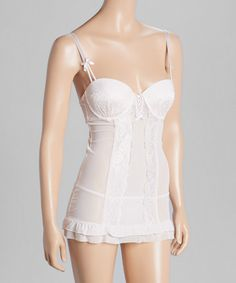 This Rose Lace Ruffle Chemise & G-String is perfect! #zulilyfinds