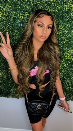 Baddie Hairstyles, Black Girls Hairstyles, Weave Hairstyles, Pretty Hairstyles, Curly Hair Styles, Natural Hair Styles, Birthday Hairstyles, Hair Laid, Lace Hair