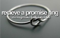 receive a promise ring