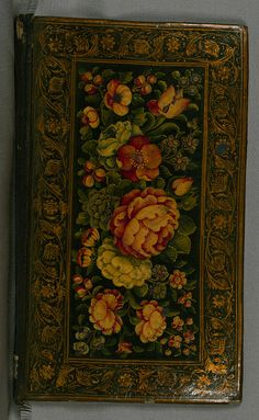 No, darling, this is not a Khokhloma tray, it's a hand-painted 14th c. Islamic manuscript cover from India. Collection of poems (divan), Lacquer binding, Walters Art Museum Ms. W.637, via http://www.flickr.com/photos/medmss/sets/72157626789409654/with/7113038019/