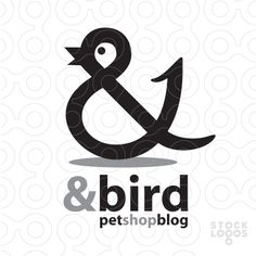 The bird and & symbol work well together because the symbol looks like a bird without the added beak and eye.