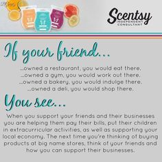 Support your friends, and small business.  https://scentsbybecky.scentsy.us