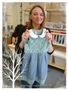 "Nouvelle robe ""à cœur"" // New little dress with a heart on the back"
