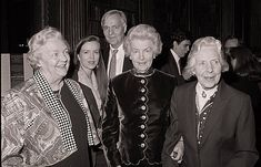 """Mitford Sisters - Jessica, Deborah and Pamela at launch of """"The Nancy Mitford Diaries"""" by Charlotte Mosley"""