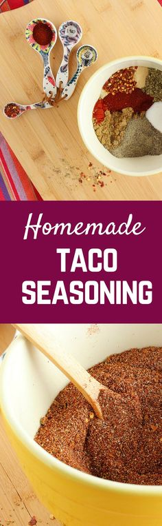Make this large batch homemade taco seasoning to keep in your pantry. Easy to make and much better for you than store-bought.