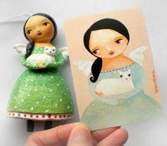 Tascha Parkinson~from Canada, love her!!  love her Frida stuff, very cute!!