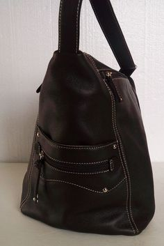 TIGNANELLO Brown LEATHER Sling BACKPACK Handbag One SHOULDER = Free USA Shipping #TIGNANELLO #BackpackStyle