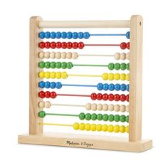 Love having a colorful abacus around (the one in our bonus room gets lots of play).
