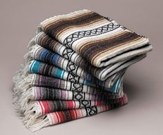 Our classic falsa blanket is so versatile! Perfect as an accent piece in the home, a yoga blanket, or for picnics, sporting events and camping! Keep one in your car as a seat cover, or if any of the a Yoga Blanket, Beach Blanket, Aztec Blanket, Camping Blanket, Mattress Covers, Seat Covers, Warm Blankets, Mexican Style, Scrappy Quilts