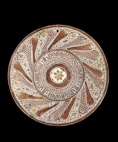 A large Hispano-Moresque lustre pottery dish Valencia, first half of the 16th Century  38 cm. diam.