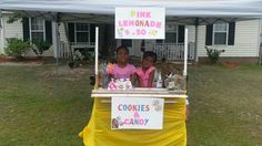 Finished product-Lemonade Stand made from pallets