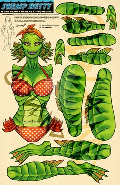 Swamp Betty Paper Puppet by Forty-Nine on DeviantArt