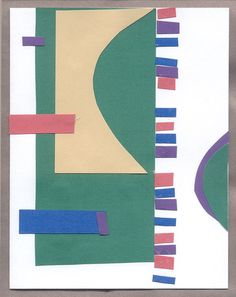 AVANT GARDE ABSTRACT Collage Greeting card original by mzmudcakes, $7.50