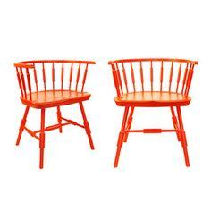Orange Lowback chairs
