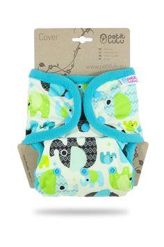 Petit Lulu SIO complete Snaps One-Size/ Snap-in-One Set Druckknöpfe - Baby Elephant (blue) Windeln Baby Elefant, Elephant, Children, Cover, Blue, Babys, Large Handbags, Young Children, Babies
