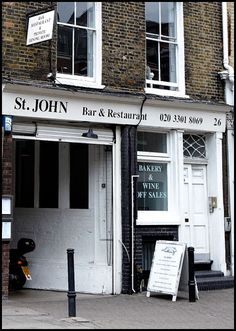Love food? Then you will LOVE St. John. London dining at it's best!