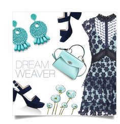 """""""dreamweaver"""" by collagette ❤ liked on Polyvore featuring self-portrait, Prada, Proenza Schouler, Kenneth Jay Lane, selfportrait and dreamydresses"""