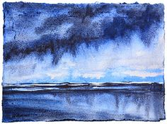 Leslie Redhead Fine Art: Storm Study from Day 2 of World Watercolor Month C...
