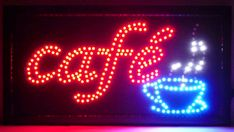 Discover & share this Cafe GIF with everyone you know. GIPHY is how you search, share, discover, and create GIFs. Coffee Gif, Hot Coffee, Restaurant Signs, Neon Lighting, Love And Light, Animated Gif, Image Search, Neon Signs, Animation
