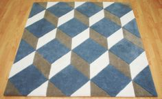 The stepping stones Rug. The colours chosen by our client gives the pattern extra depth. #Interiors