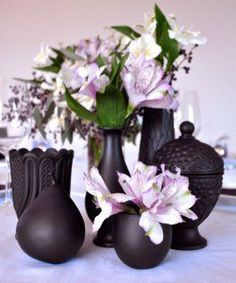 The Stylish Painted Vases Centerpieces will make a huge impact on your reception tables, but not your wallet.