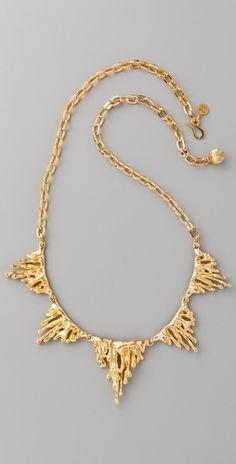 Erica Klein Link Drip Necklace. $210